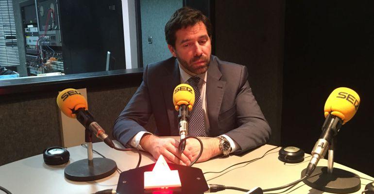 Javier Juárez en los estudios de SER Madrid Norte