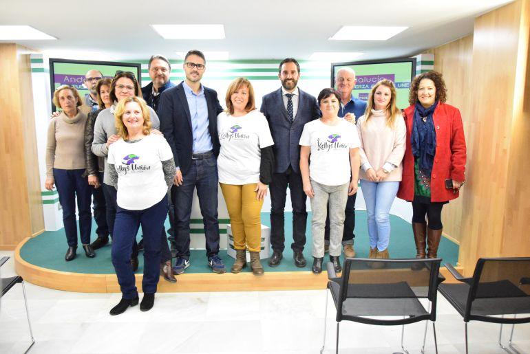 José Carlos Durán y Daniel Pérez en la reunión esta mañana con las camareras de piso