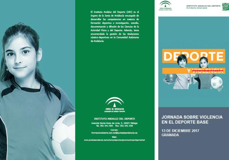 Cartel de la jornada sobre violencia en el deporte
