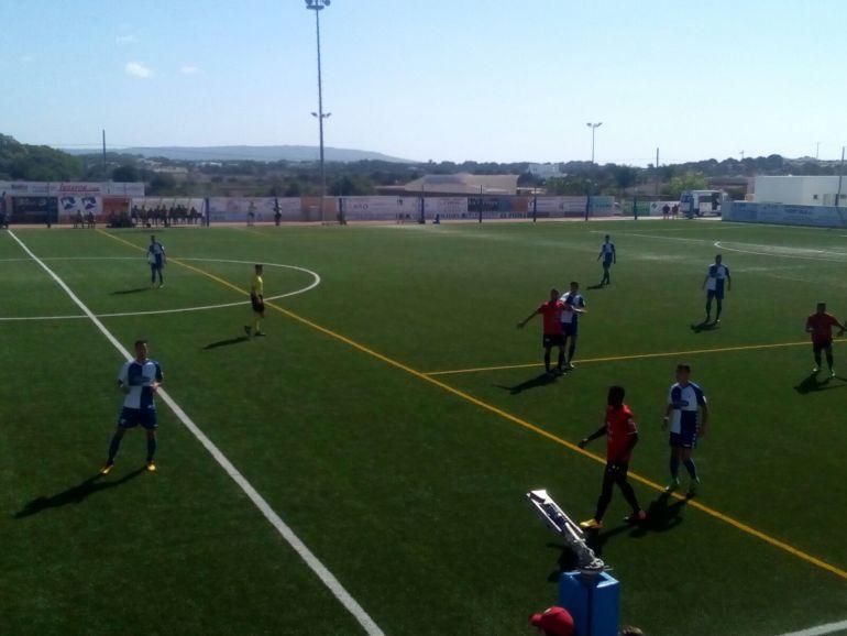 Imagen del un partido del Formentera esta temporada
