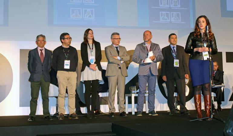 Acto de entrega del premio al Municipio Emprendedor