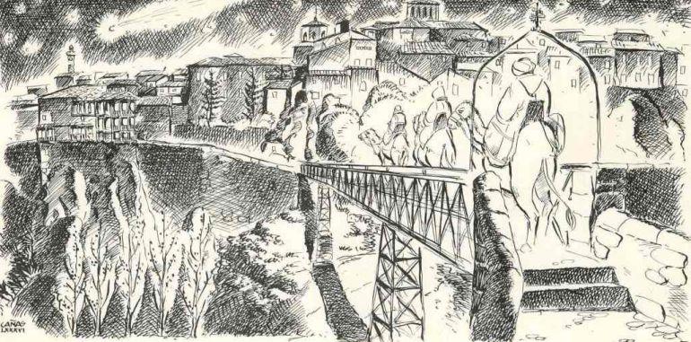 Ilustración sobre la Navidad en Cuenca.