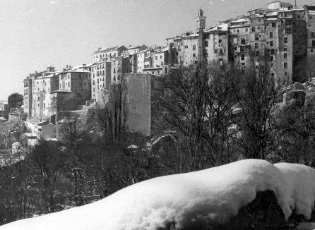 Barrio de San Marín nevado.