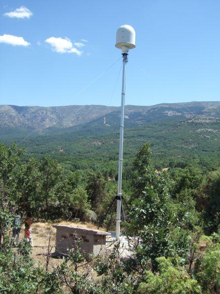 Radar ubicado en Navaluenga