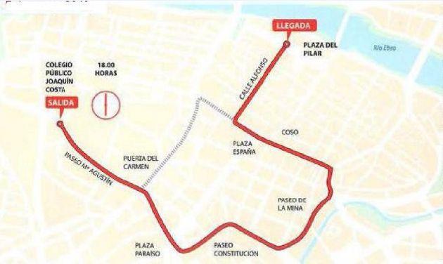 Recorrido de la Cabalgata de los Reyes Magos por las calles de Zaragoza