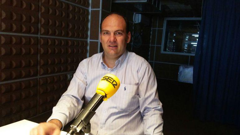 José Manuel Muñoz, en los estudios de SER Puertollano