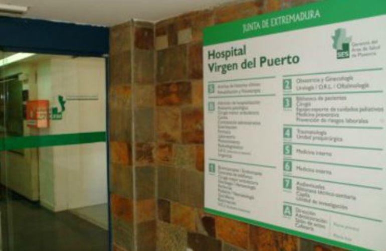 Acceso del Hospital Virgen del Puerto de Plasencia