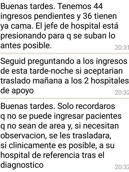 El gerente del Ramón y Cajal niega el ingreso a los pacientes que llegan a urgencias y no pertenecen al hospital