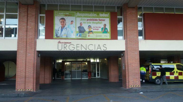 La puerta de urgencias del hospital Virgen de la Arrixaca, en una imagen de archivo