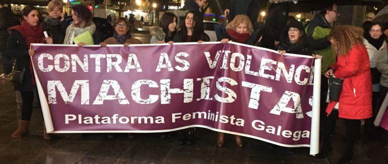 Concentración contra la violencia machista en A Coruña