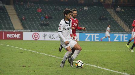 Galán, en un partido con el Dreams Sports de Hong Kong