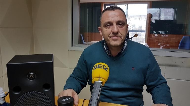 Mariano Carmona en el estudio de la Ventana en Radio Santander