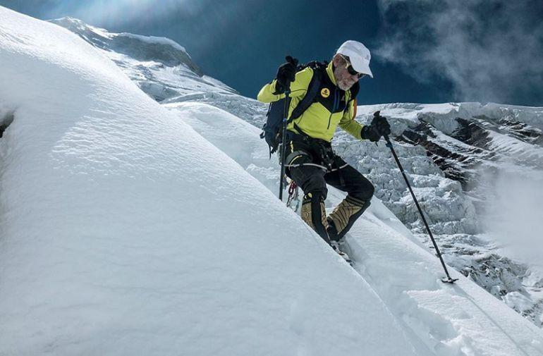 Carlos Soria en su última expedición al Dhaulagiri