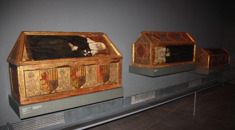 Algunas de las piezas retornadas al Monasterio de Sijena