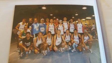 Pepe González junto a otros cordobeses en maratón Sevilla