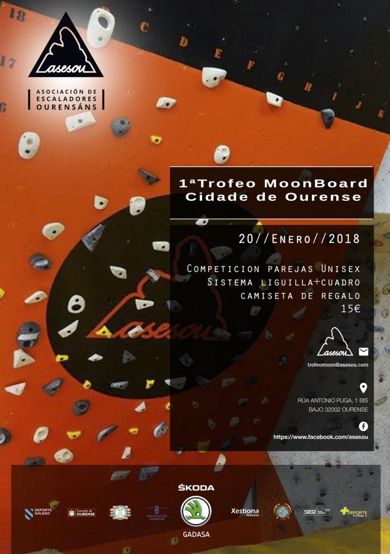 I Trofeo Moonboard ASESOU Cidade de Ourense, el sábado día 20 de enero
