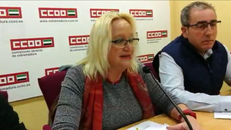 Encarna Chacón, secretaria general de CCOO Extremadura