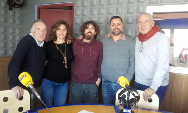 Julio Herranz, Luciana Aversa, Alberto Ferrer, Joan Miquel Perpinyà y Nacho Lahuerta