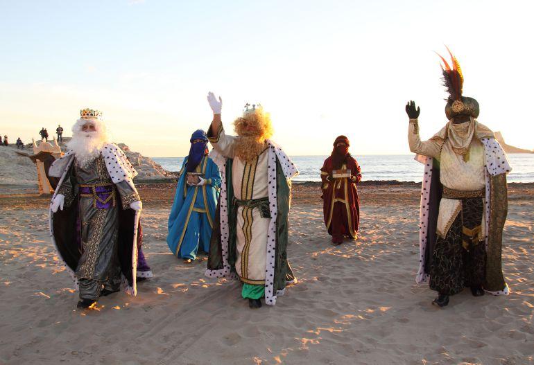 Los Reyes Magos llegan a Moraira.