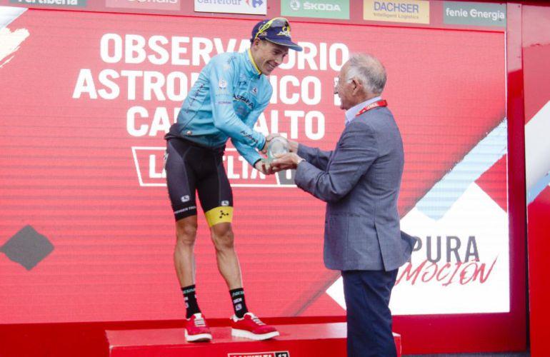 Gabriel Amat en la pasada edición de la Vuelta Ciclista a España.