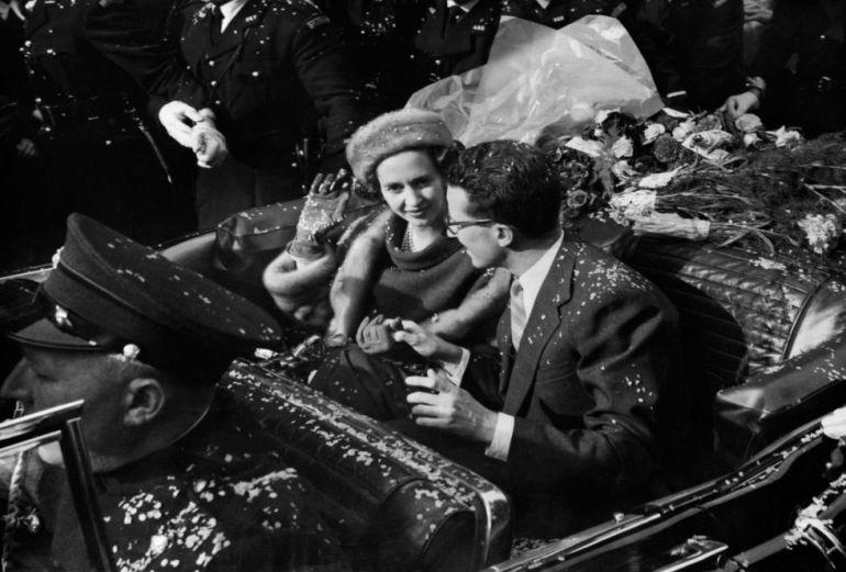 Balduino y Fabiola tras el enlace matrimonial