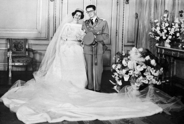 Fabiola y Balduino el día de su boda