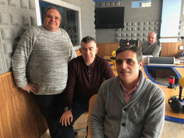 Aitor Morrás, Julián Aguilar y José Vicente Marí Bosó
