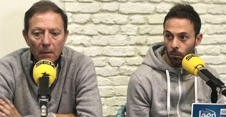 Higinio Vilches padre a la izquierda junto a su hijo, también Higinio Vilches, a la derecha.