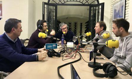 Momento de la tertulia del Ser Deportivos Jaén de este lunes, 8 de enero, con Higinio Vilches padre e hijo.