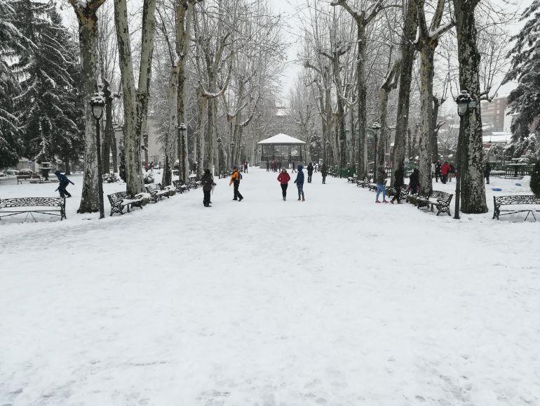 Imagen del parque de La Corredera este domingo.