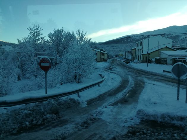 Imagen de la salida de Béjar a Palomares. Intransitable en condiciones normales.