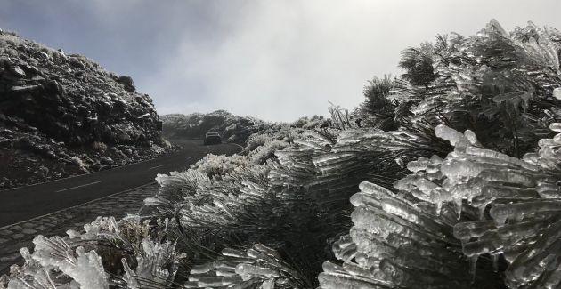 Escarcha en el Teide