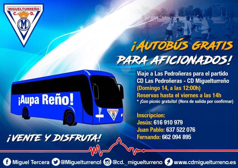 El CD Miguelturreño no estará solo en Las Pedroñeras