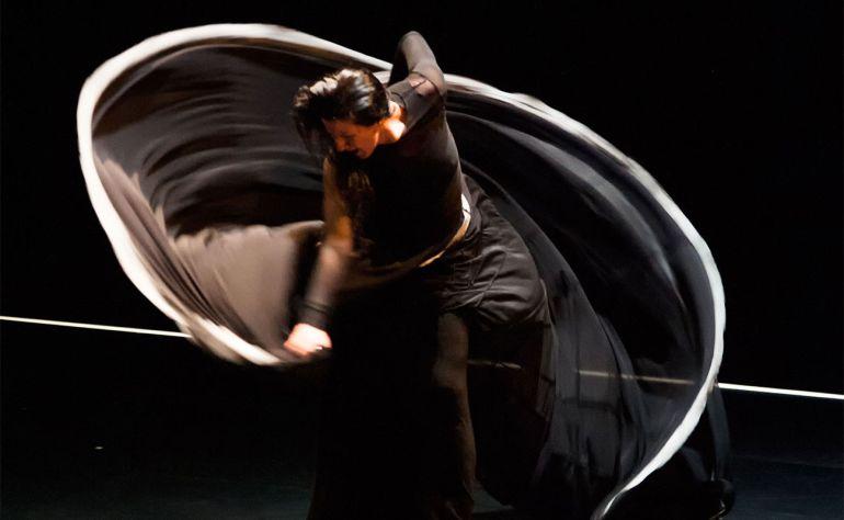 Momento de la actuación de Maria Pages en la obra 'Óyeme con los ojos' que se interpreta este sábado 13 en el Teatro Principal de Castellón
