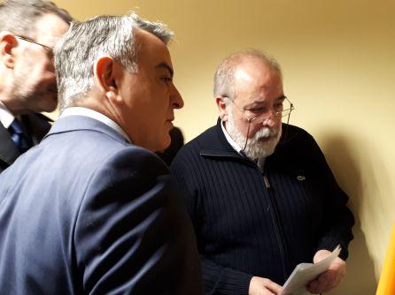 El Delegado del Gobierno en el País Vasco, Javier de Andrés, junto al edil socialista Arcadio Benítez