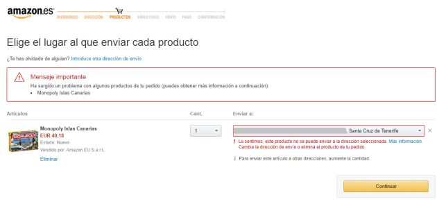 comprar amazon internacional canarias