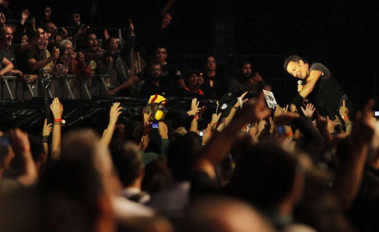 Concierto de Bruce Springsteen en el monte do Gozo en 2009