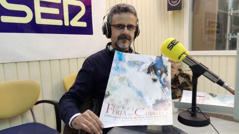 José María Soto, autor del cartel de la Feria 2018, en Radio Jerez