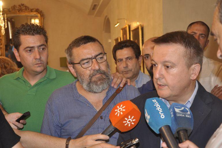 Juan Miguel Becerra durante la recepción en el Ayuntamiento la pasada temporada