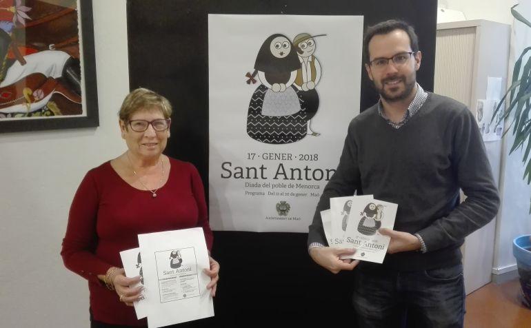 Mina Moll y Héctor Pons presentaron los actos de la Diada en Maó.