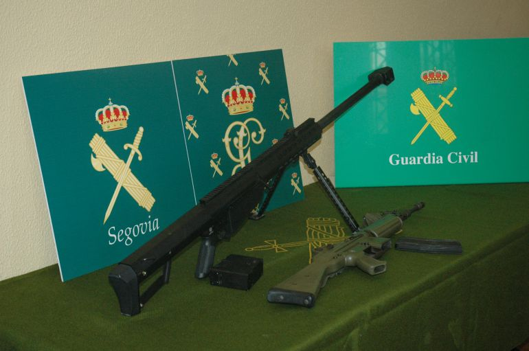 Armas incautadas por la Guardia Civil de Segovia
