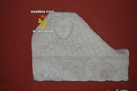 Pieza arqueológica intervenida