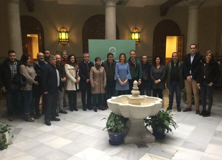Reunión en la Delegación de Gobierno para hablar de las  escuelas taller concedidas