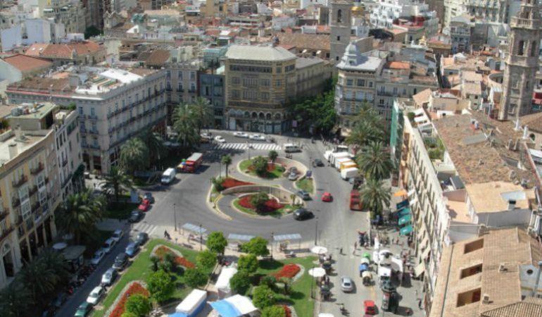 Aspecto actual de la plaza de la Reina de Valencia