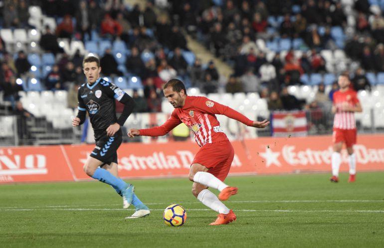 Verza en el partido contra el Lugo.