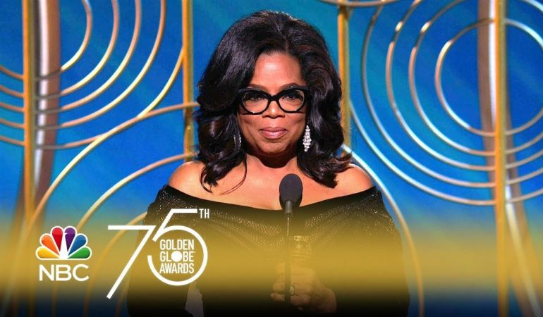 Oprah Winfrey se convirtió en la protagonista de la 75 edición de los Globos de Oro por su discurso contra los abusos hacia las mujeres