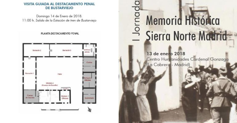 Cartel de la I Jornada Memoria Histórica Sierra Norte