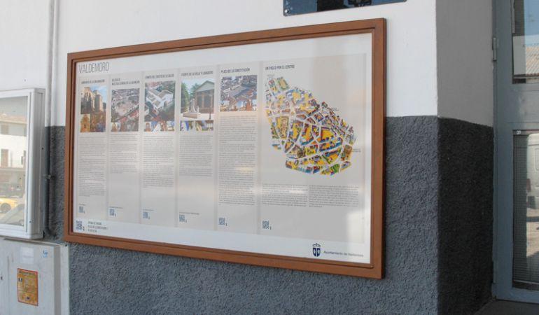 Los paneles explicativos difunden el patrimonio cultural de la localidad