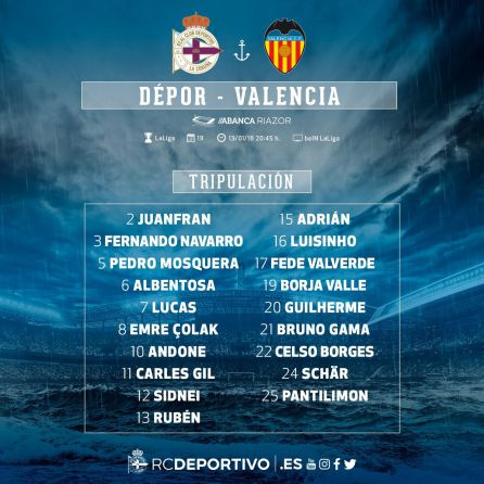 Deportivo vs. Valencia: Toda la carne en el asador
