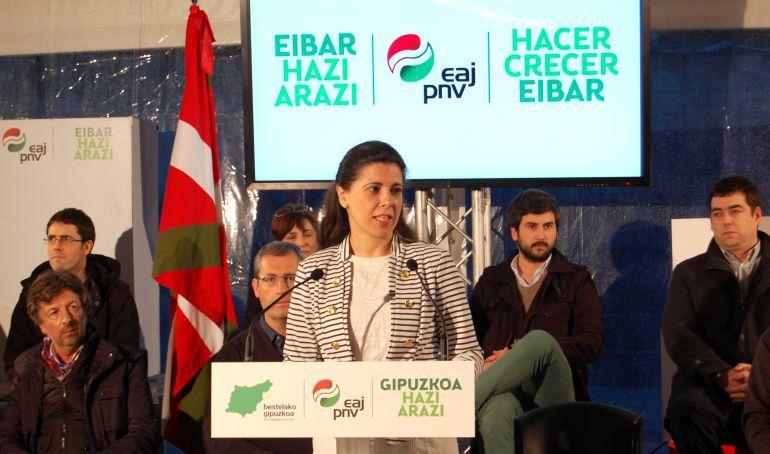 Eva Juez, en un acto electoral celebrado en Eibar